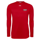 Under Armour Red Long Sleeve Tech Tee-Kaeser w tagline