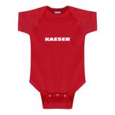 Red Infant Onesie-Kaeser