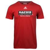 Adidas Climalite Red Ultimate Performance Tee-Kaeser w tagline