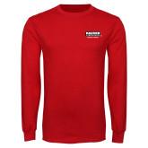 Red Long Sleeve T Shirt-Kaeser Primary Mark