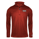 Russell Red Heather 1/4 Zip-Kaeser w tagline