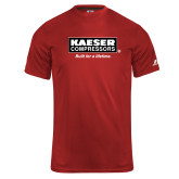 Russell Core Performance Red Tee-Kaeser w tagline