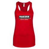 Next Level Ladies Red Ideal Racerback Tank-Kaeser w tagline