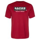 Performance Red Tee-Kaeser w tagline
