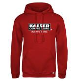 Russell DriPower Red Fleece Hoodie-Kaeser w tagline