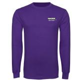 Purple Long Sleeve T Shirt-Kaeser Primary Mark
