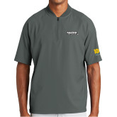 New Era Charcoal Cage Short Sleeve 1/4 Zip-Kaeser Primary Mark