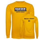Gold Long Sleeve T Shirt-Kaeser