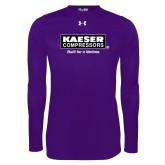 Under Armour Purple Long Sleeve Tech Tee-Kaeser w tagline