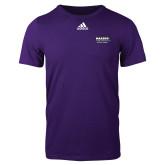 Adidas Purple Logo T Shirt-Kaeser Primary Mark
