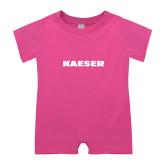 Bubble Gum Pink Infant Romper-Kaeser
