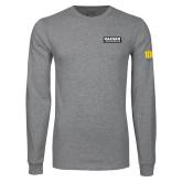 Grey Long Sleeve T Shirt-Kaeser Primary Mark