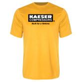 Performance Gold Tee-Kaeser w tagline