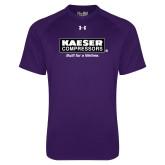 Under Armour Purple Tech Tee-Kaeser w tagline