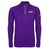 Under Armour Purple Tech 1/4 Zip Performance Shirt-Kaeser w tagline