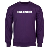 Purple Fleece Crew-Kaeser