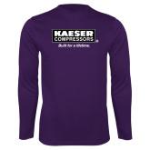 Performance Purple Longsleeve Shirt-Kaeser w tagline
