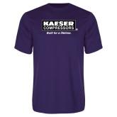 Performance Purple Tee-Kaeser w tagline