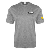 Performance Grey Heather Contender Tee-Kaeser Primary Mark