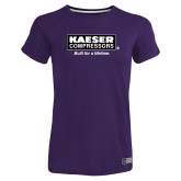 Ladies Russell Purple Essential T Shirt-Kaeser w tagline
