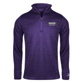 Russell Purple Heather 1/4 Zip-Kaeser w tagline