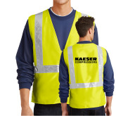 Safety Yellow Enhanced Visibility Vest-Kaeser Compressors