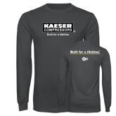 Charcoal Long Sleeve T Shirt-Kaeser