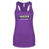 Next Level Ladies Purple Berry Ideal Racerback Tank-Kaeser w tagline