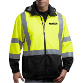 Safety Yellow ANSI 107 Class 3 Safety Windbreaker-Kaeser Compressors