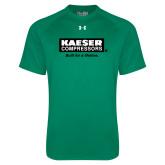 Under Armour Kelly Green Tech Tee-Kaeser w tagline