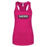 Next Level Ladies Raspberry Ideal Racerback Tank-Kaeser w tagline