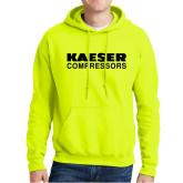 Safety Green Fleece Hoodie-Kaeser Compressors