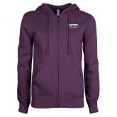 ENZA Ladies Purple Fleece Full Zip Hoodie-Kaeser w tagline