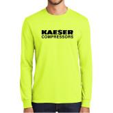 Safety Green Long Sleeve T Shirt-Kaeser Compressors