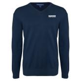 Classic Mens V Neck Navy Sweater-Kaeser Compressors