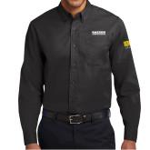 Black Twill Button Down Long Sleeve-Kaeser Compressors