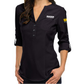 Ladies Glam Black 3/4 Sleeve Blouse-Kaeser Compressors