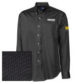 Cutter & Buck Black Nailshead Long Sleeve Shirt-Kaeser Compressors