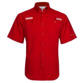 Columbia Tamiami Performance Red Short Sleeve Shirt-Kaeser Compressors