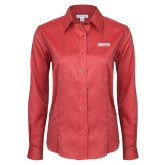 Ladies Red House Red Long Sleeve Shirt-Kaeser Compressors