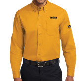 Gold Twill Button Down Long Sleeve-Kaeser Compressors