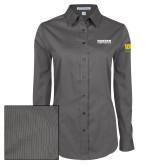 Ladies Grey Tonal Pattern Long Sleeve Shirt-Kaeser Compressors