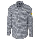 Cutter & Buck Charcoal Stretch Gingham Long Sleeve Shirt-Kaeser Compressors