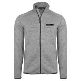 Grey Heather Fleece Jacket-Kaeser Compressors