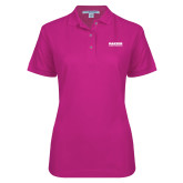 Ladies Easycare Tropical Pink Pique Polo-Kaeser Compressors
