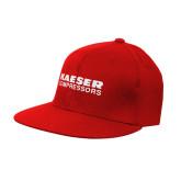 Red Flat Bill Snapback Hat-Kaeser Compressors