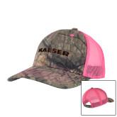 Mossy Oak Camo/Neon Pink Structured Hat-Kaeser