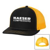 Richardson Black/Gold Trucker Hat-Kaeser Compressors