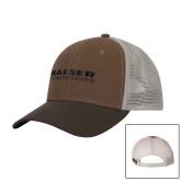 DRI DUCK Hudson Field Khaki/Tobacco Trucker Hat-Kaeser Compressors