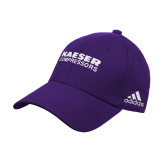 Adidas Purple Structured Adjustable Hat-Kaeser Compressors